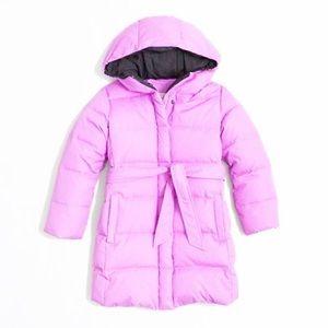 J Crew Girl Hooded Belted Puffer Coat Jacket